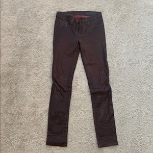 Tag and Bone leather pants